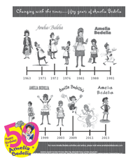 Amelia Bedelia Through the Years Timeline