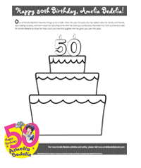 Decorate a 50th Birthday Cake for Amelia Bedelia