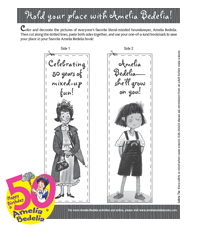 Make Your Own Amelia Bedelia Bookmark